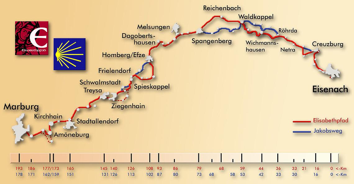 Elisabethpfad 2 von Eisenach nach Marburg