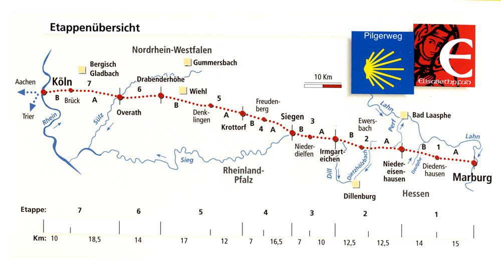 Elisabethpfad 3 von Köln nach Marburg